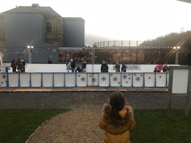 outdoor ice rink at woodhorn museum