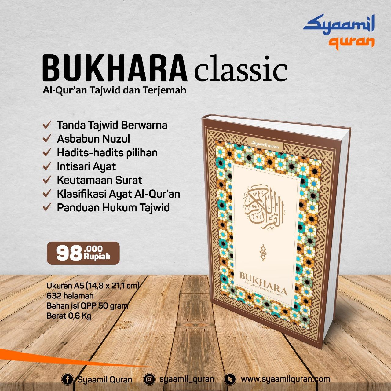 Jual Syaamil Qur'an, Al-Qur'an Bukhara Classic: Al-Qur'an Dengan Tajwid Dan Terjemah
