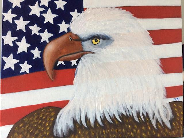 artedonypasion-americaneagle-america-usa-artforsale-acrylicpainting