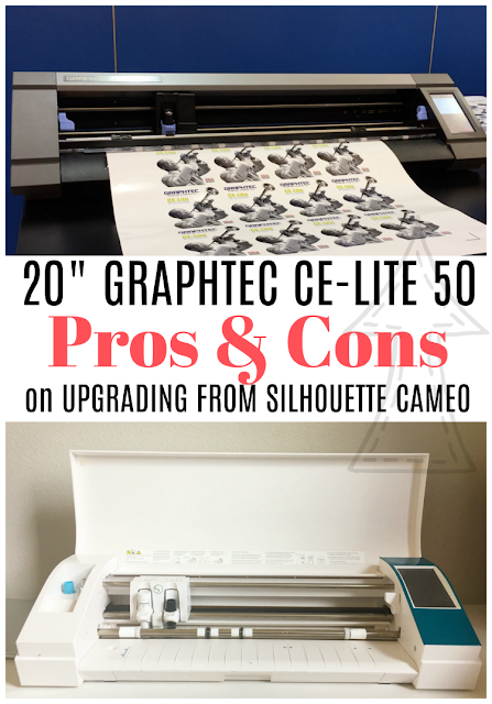 """larger silhouette cameo, silhouette cameo pro, silhouette cameo vs graphtec, graphtec vs silhouette cameo, graphtec 20"""", graphtec ce-lite 50"""