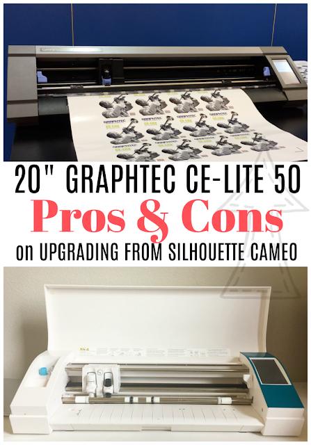 "Graphtec 20"",  Graphtec vs Silhouette CAMEO, Graphtec cutter, vinyl cutting machine, Silhouette CAMEO Pro, Graphtec CE Lite Review"