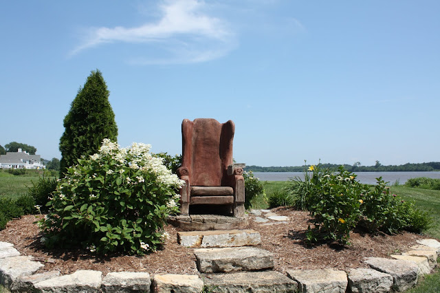 Armchair sculpture in Grafton, Illinois