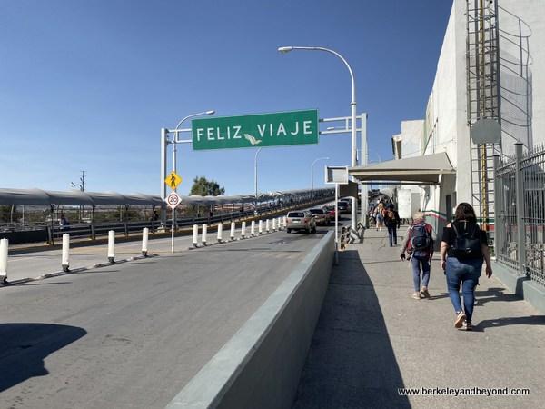 crossing from Juarez, Mexico to El Paso, Texas