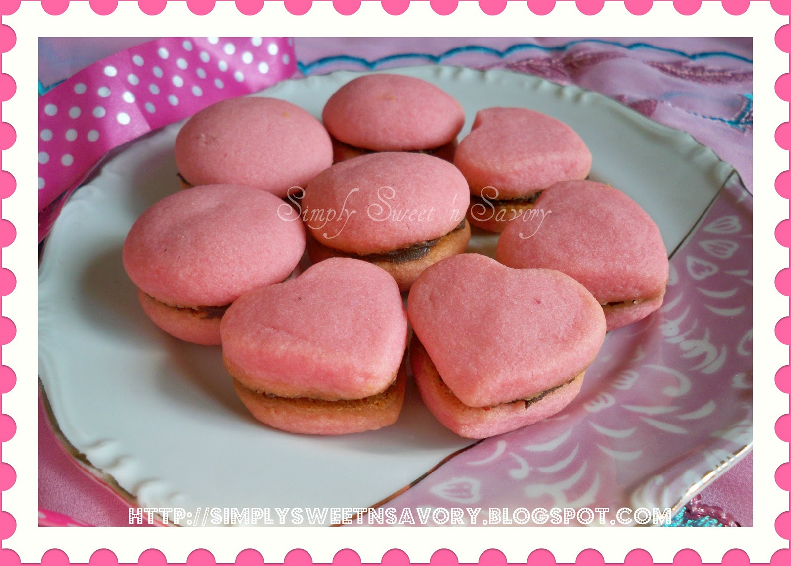 Pink chocolate filled kisses