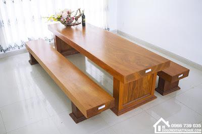 Bộ bàn ghế ba tấm gỗ gõ đỏ, Bo ban ghe ba tam go go do nguyen khoi