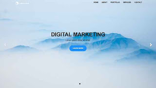 Homepage Template Bootstrap