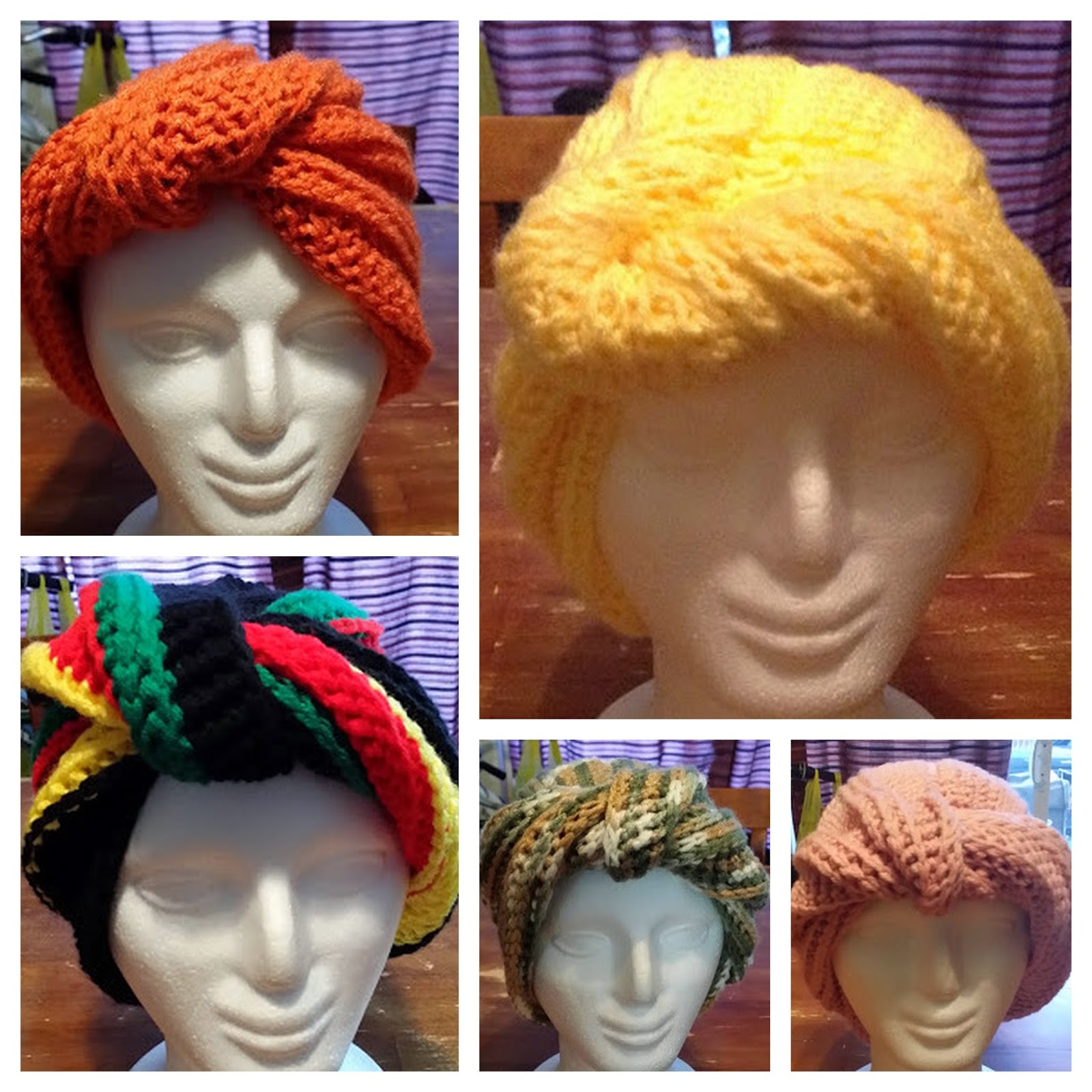 More of Angie Saunders' Crochet Wrap Twist Turbans