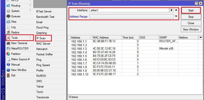 Cara Menggunakan Tool IP Scan pada Mikrotik - Kumpulan Tutorial ...