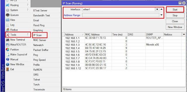 Cara Menggunakan Tool IP Scan pada Mikrotik – Pusat Pengetahuan