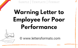 Sample Warning Letter to Employee for Poor Unsatisfactory Performance