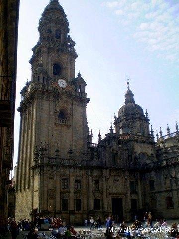 La fachada de la quintana, Catedral de Santiago de compostela, Galicia