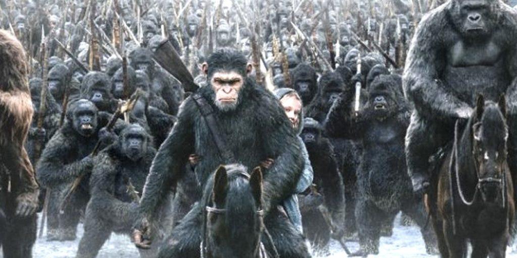 planeta małp planet apes war serkies dawn rise geneza ewolucja dvd trilogy