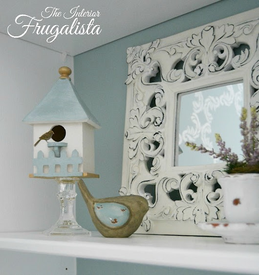 Easy DIY Spring Vignette Birdhouses for under $5