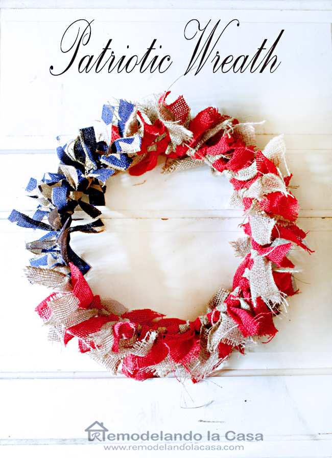 burlap ribbon patriotic wreath