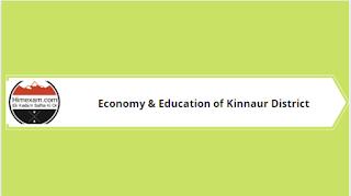 Economy & Education of Kinnaur District