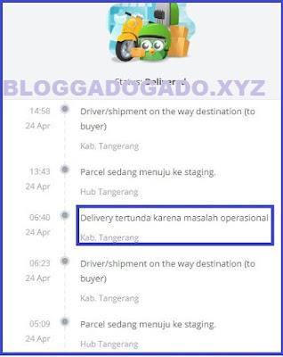 Delivery tertunda karena masalah operasional