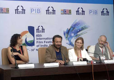 Shekhar Kapur, IFFI 2015, 46th International Film Festival of India, Suha Arraf, Michael Radford