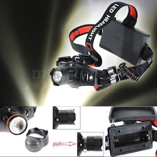 2000LM Q5 LED Zoom Zoomable Headlamp HeadLight 3 Mode 18650/AAA Flashlight