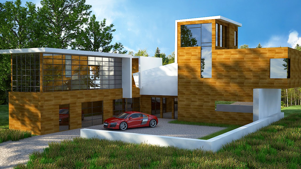 3D Exterior In the Woods