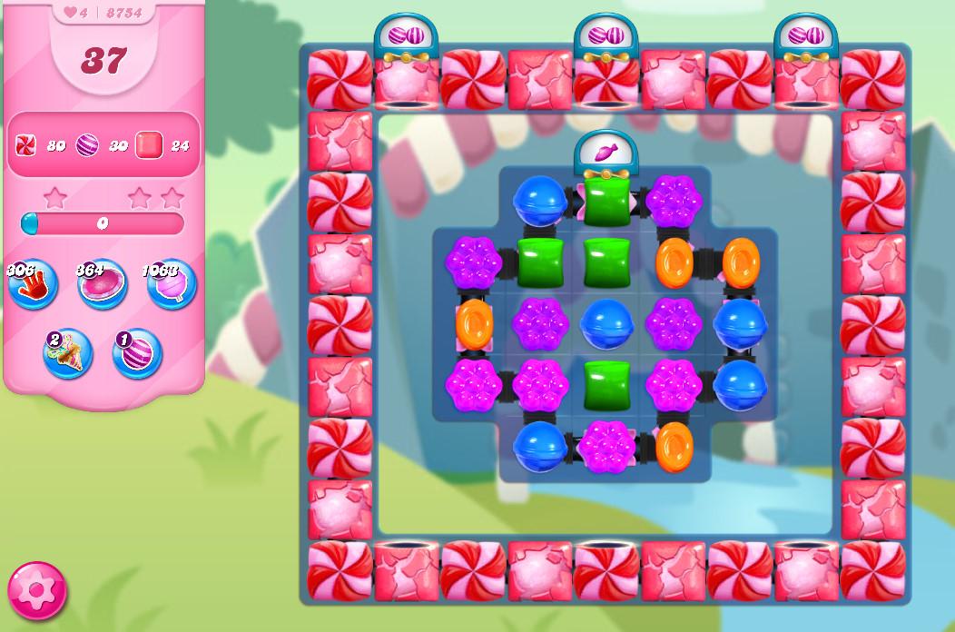 Candy Crush Saga level 8754