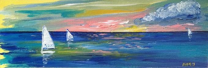 Sailing the sunset - Original Painting