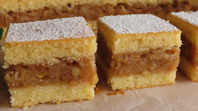 Biskvitna Pita s Jabukama Recept | Apple Pie Recipe