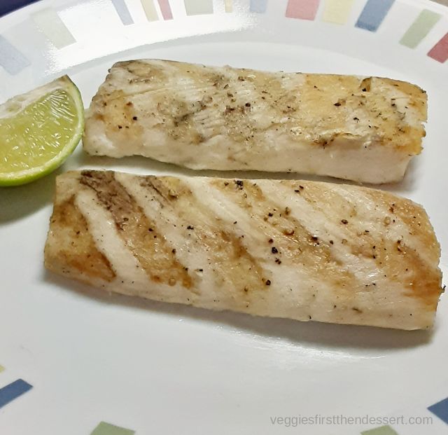 Veggies First Then Dessert - Grilled Mahi-Mahi