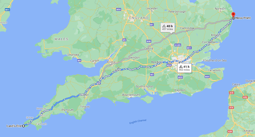Suggested Google Maps Route