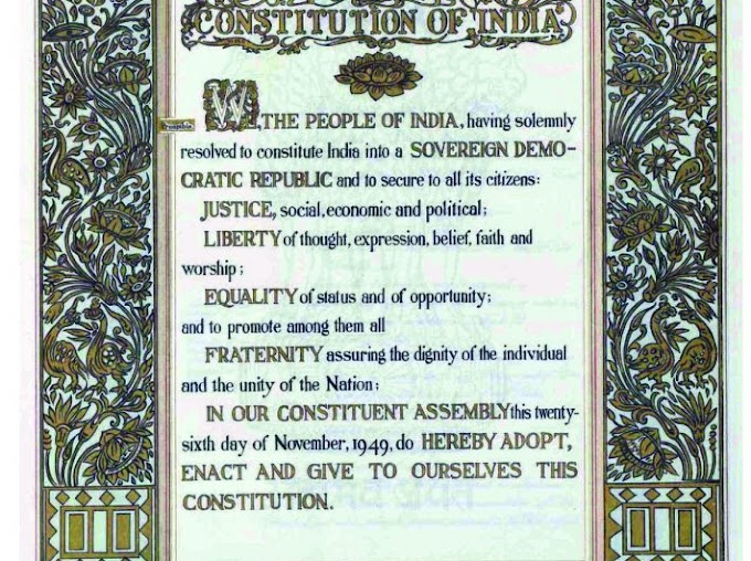 Preamble || Indian preamble ||Components of preamble