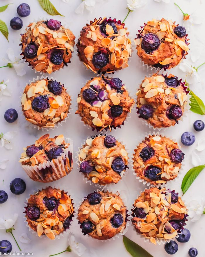 Blueberry Breakfast Muffins. Need more recipes? 20 Tasty And Nourishing, Yet Quick Vegan Breakfast Recipes Ideas vegan breakfast weightloss | vegan breakfast protein | vegan breakfast healthy easy | vegan breakfast recipe #breakfast #vegan #veganideas #tasty