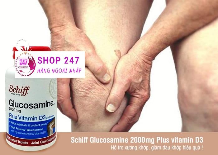 GLUCOSAMINE SCHIFF 2000MG PLUS VITAMIN D3 -MỸ
