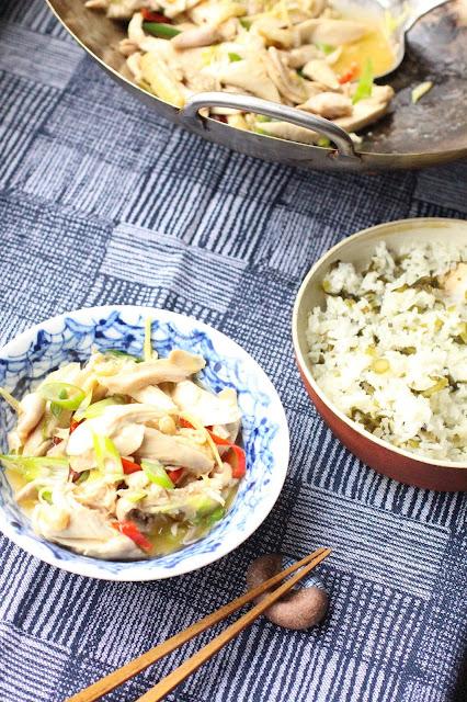poulet a la chinoise wok