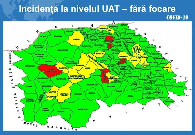Rata de infectare scade în județul Suceava, dar crește numărul pacienților cu forme severe și grave de COVID din spitale