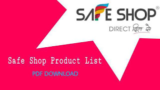 Safe Shop Product List And Price With | BV | SSP |  MRP | Download PDF