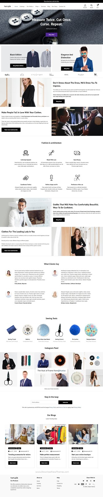 Best Custom Tailoring & Fashion Shopify Theme