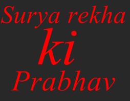 surya rekha - sun line in hand