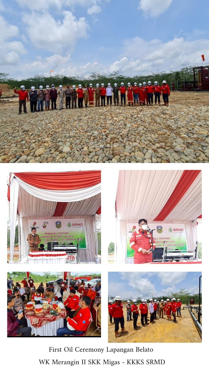 Launching Produksi Pertama Lapangan Minyak Belato