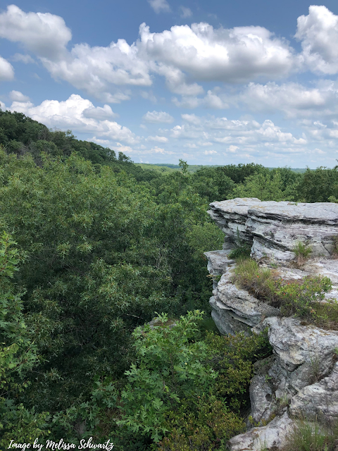 Rocky overlooking with  amazing river views at Castle Rock State Park
