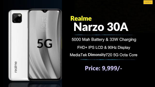 HP Realme Narzo 30A