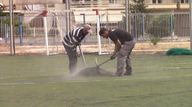 Ξεκίνησαν οι εργασίες για την κατασκευή του γήπεδο της Νέας Κίου (βίντεο)
