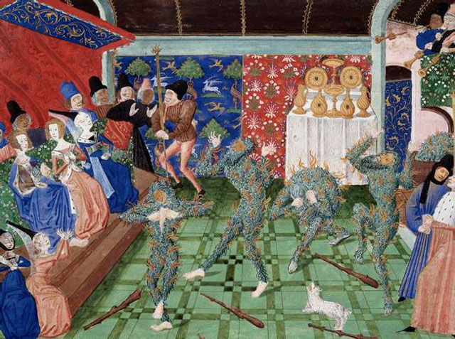 Pesta 'Ball of the Burning Men' Prancis