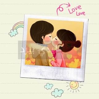خلفيات كرتونية حب ورومانسية،