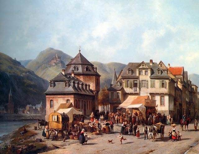 Jacques Carabain - St. Goar am Rhein - s. XIX