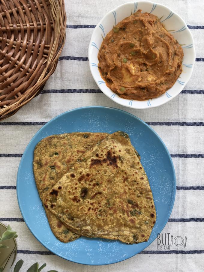 Fresh Fenugreek Leaves Flatbread | Methi Paratha