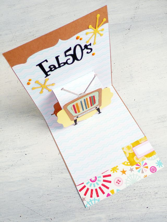 Card pop up maschile - Favolosi anni '50
