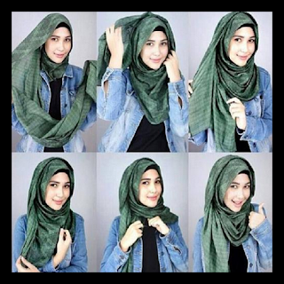 gambar hijab pashmina simple