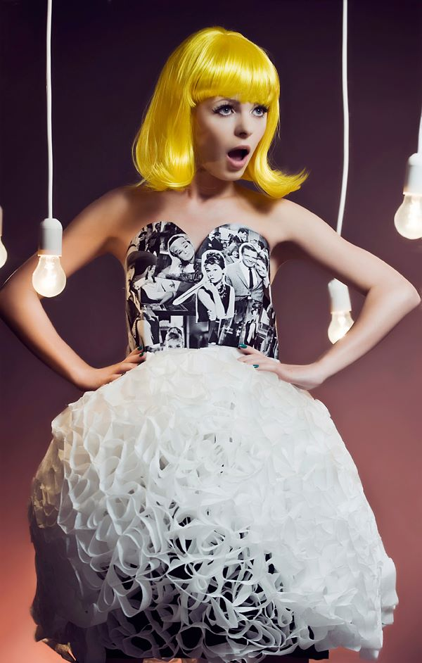 Paper fashion dresses | Futuristic style