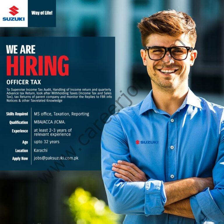 Jobs in Pak Suzuki Motor Company Ltd