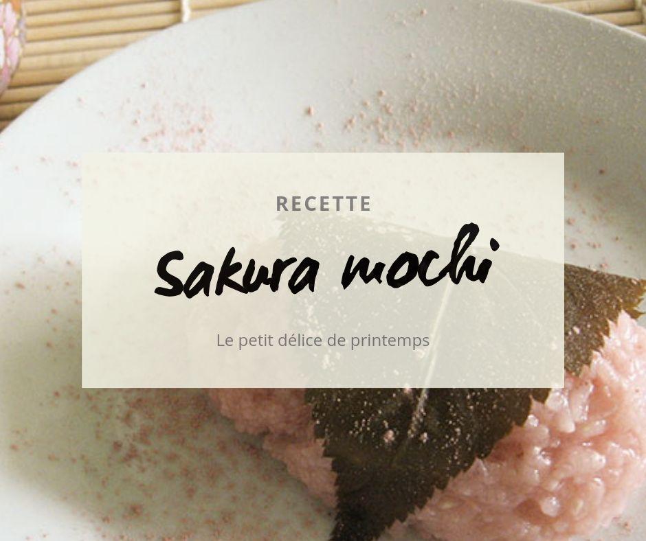 La recette des sakura mochi