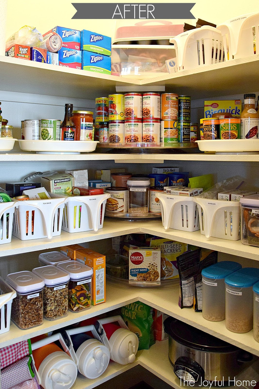 Organized Pantry and Fridge - The Joyful Home